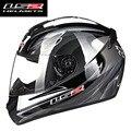 Envío libre estilo más lastest alta calidad FF352 LS2 de la motocicleta casco de la cara llena racing LS2 casco DEL ECE DEL PUNTO aprobado