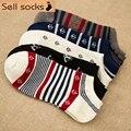 new summer Stripes Sailor anchor man Casual ankle cotton socks men boat sock slippers harajuku EUR39-44