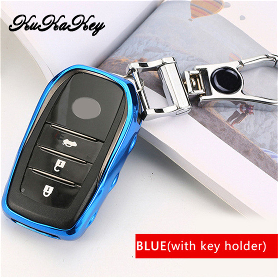 Dark Blue Silicone Case Cover For Chrysler Dodge Remote Smart Key 6 Buttons 6BT