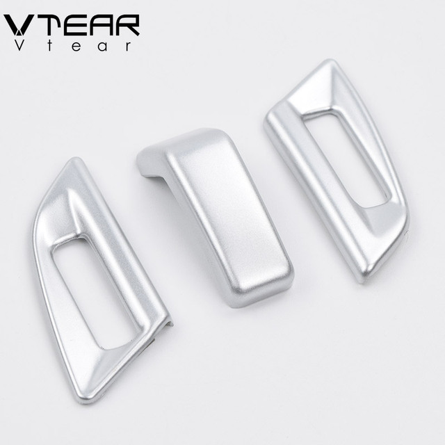 Vtear For Peugeot 3008 3008GT 2020-2018 Interior Mouldings Center Console Air Conditioner Outlet Trim Cover Chrome Accessories