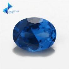 Размер 3x5 ~ 10x12 мм овальной формы 109 # синий камень блестящей