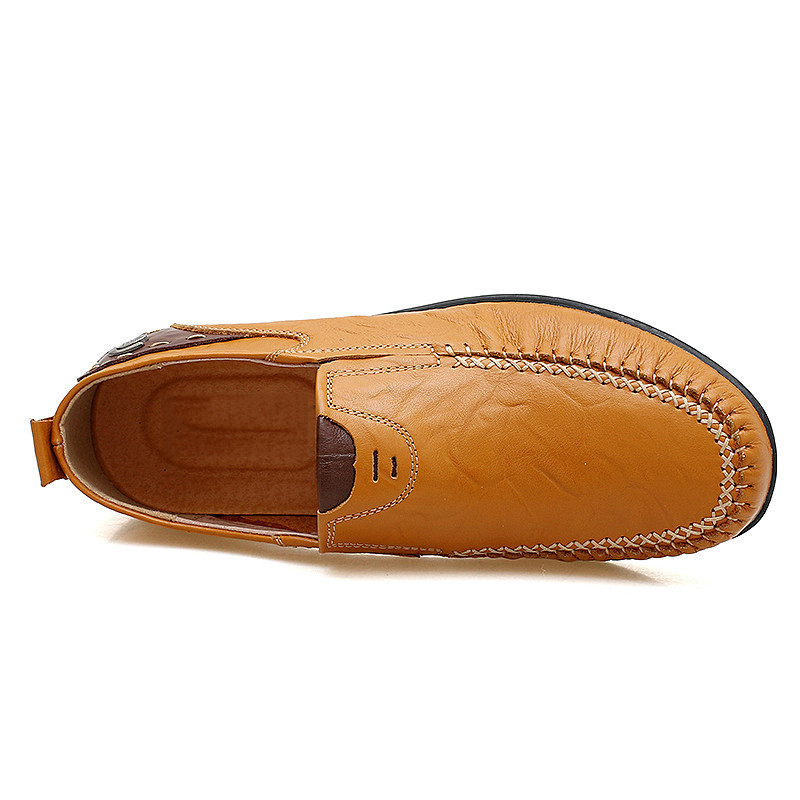 Noir En Hommes jaune Taille Mocassin Véritable Mocassins Souple 47 marron Chaussures À Conduite Semelle Grande Cuir Respirant Chaussures qtZwHSS