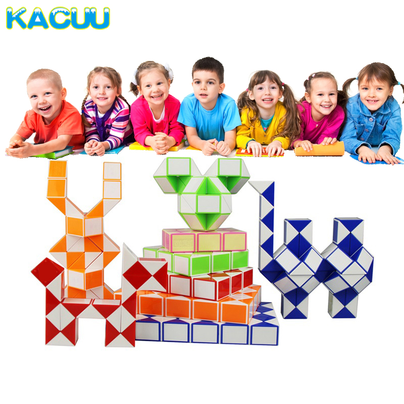 2018 New Magic Ruler Snake Kids Educational Toys Puzzles & Magic Cubes Segment DIY Cube Puzzle Creative Toys For Children russian 6side cubes puzzle for toddlers and kids 5 different animal russian alphabet number fruits puzzles educational toys