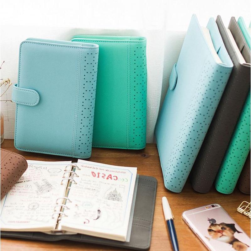 A5 Paper Journal Notebooks Macaron Spiral Grid Notebook Agenda Organizer/Binder Diary Weekly 2019 Planner Book Travel