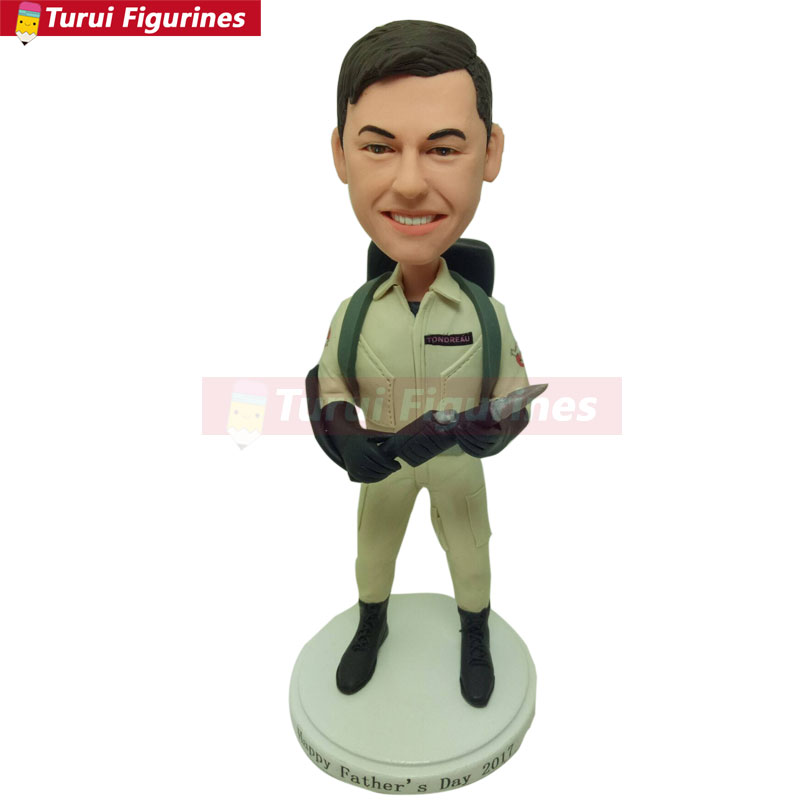 Ghostbusters Personalized Gift Custom Ghostbusters Bobble Head Clay Figurines Ghostbusters Birthday Cake Topper Husband Boyfriend Son Gift
