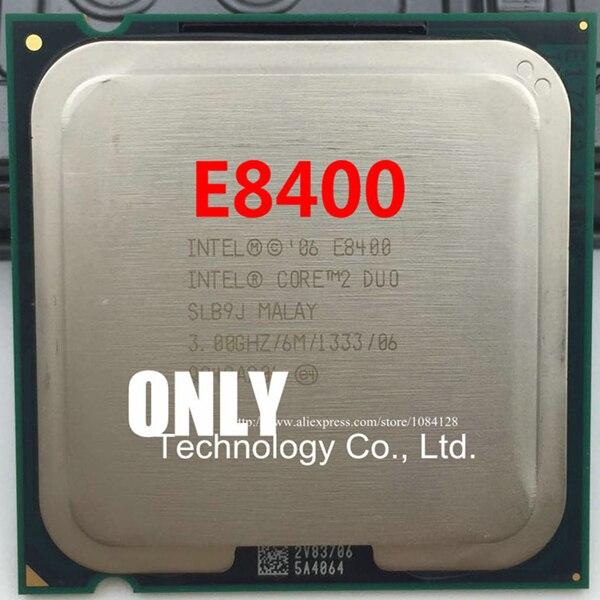 Frete grátis intle e8400 processador cpu (3.0 ghz/6 m/1333 ghz) soquete 775