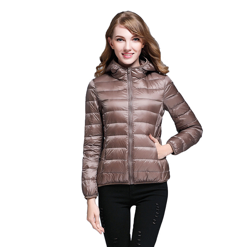 New Women fashion thin   down     coat   sweet   coat   90% white duck   down   jacket ladies Clothing ultra light outwear RE0786