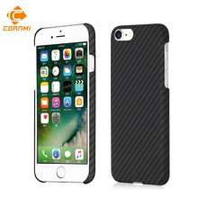 100% реальные углеродного Волокна чехол для телефона iPhone 7 7 s 7 г Чехлы крышка полировки матовая Корпус Корпуса