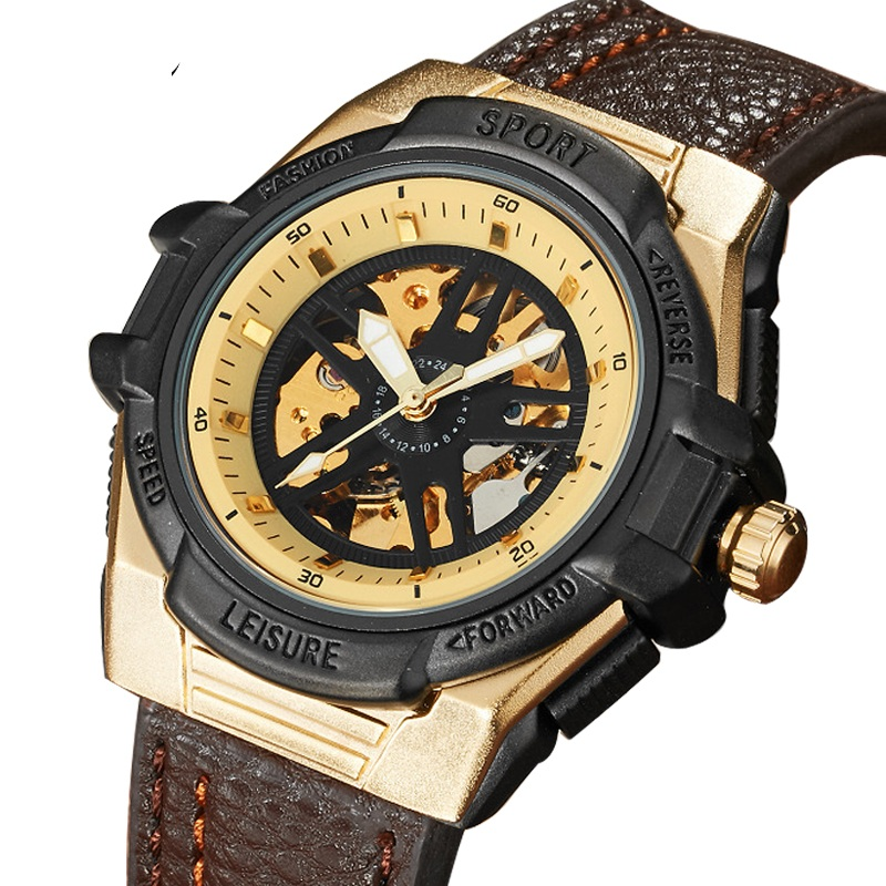 Fashion Leisure Sport Automatic Mechanical Wrist Watches For Mens Clock Luxury Brand Leather Band Skeleton Dial Steel Mens Watch fashion leisure sport automatic mechanical wrist watches for mens clock luxury brand leather band skeleton dial steel mens watch