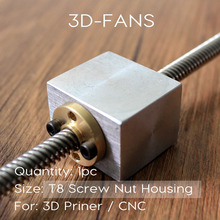 1 шт. трапециевидной гайки Корпус кронштейн для 3D-принтеры Запчасти RepRap ЧПУ (не включают винт!)