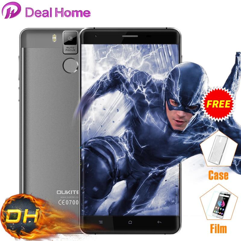 Цена за Чехол + пленка) подарок! 5.5 mah oukitel ''6000 k6000 pro 4 г lte смартфон mtk6753 octa ядро 3 ГБ + 32 ГБ 13mp android 6.0 отпечатков пальцев