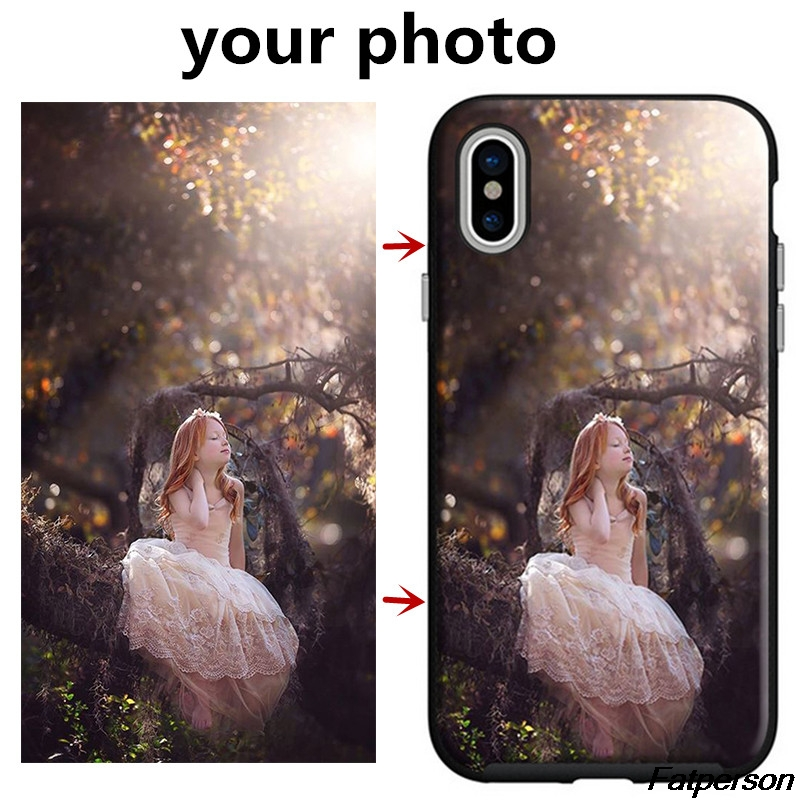 Custom DIY Print Photo Black soft Silicone TPU Phone Case Cover Shell For Apple iPhone X 8 8plus 6 6s 7 7plus 5s SE Coque cases
