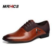 Spitze Schuhe Größe 11 Business männer Grundlegende Freizeitschuhe, Schwarz/Braun Leder Tuch Elegante Design Hübscher flache MRCCS