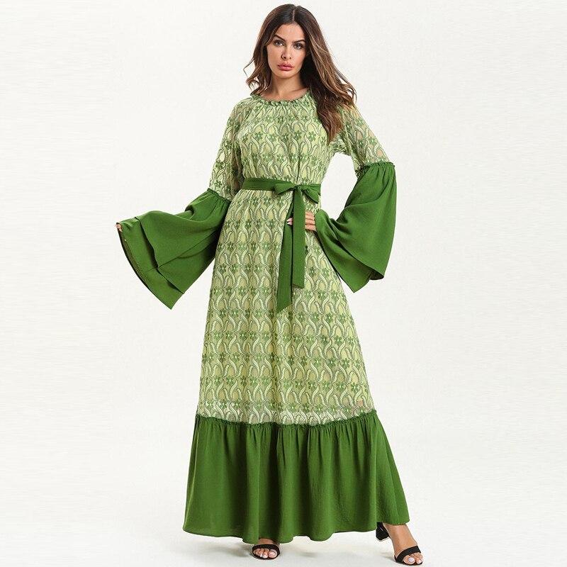 Islamische Kleidung Zielstrebig Vestidos Spitze Abaya Kaftan Dubai Islamischen Arabisch Kaftan Muslim Hijab Kleid Frauen Elbise Ramadan Eid Kleider Robe Femme Sukienki