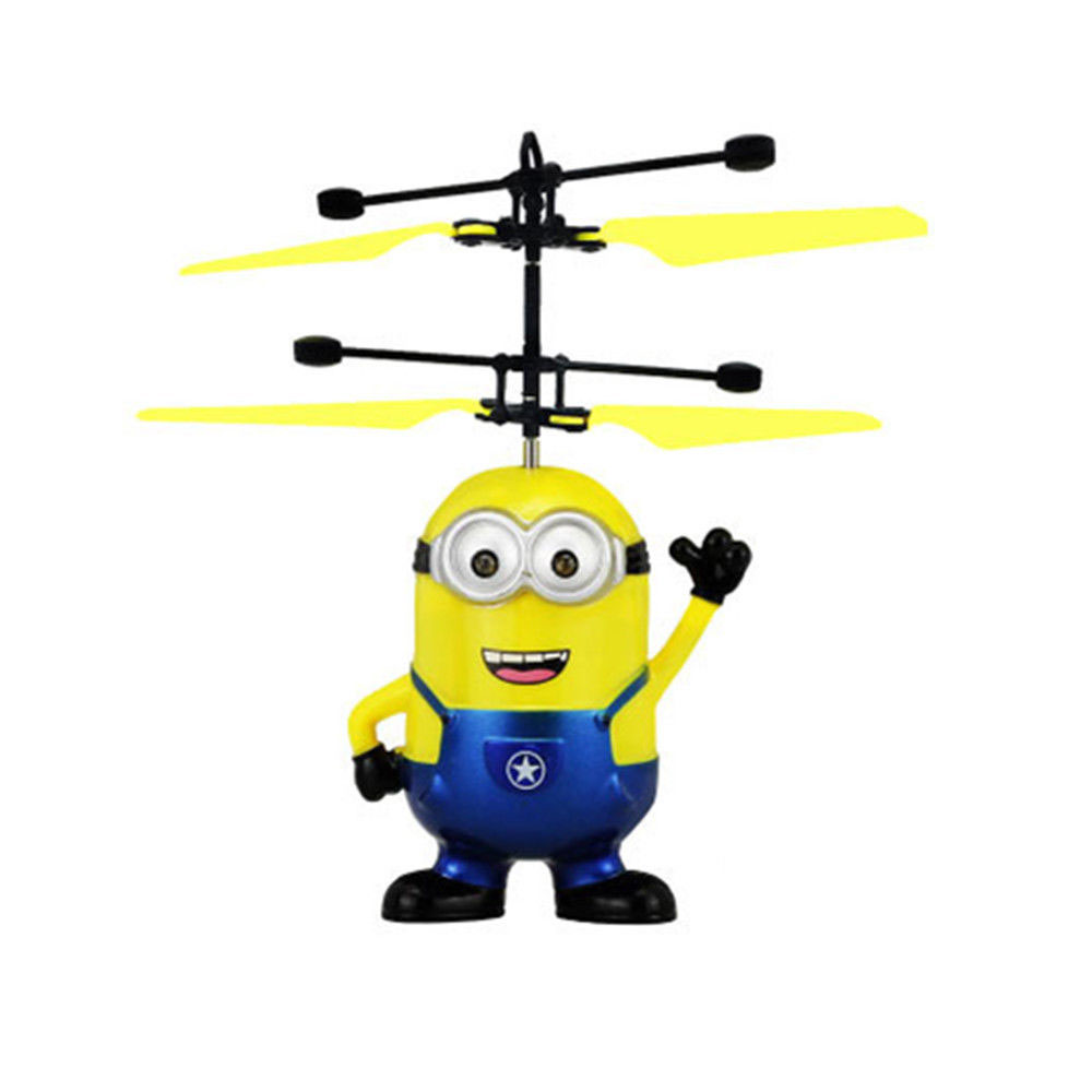 Minion Fly Flashing helicopter Hand Control RC Toys Minion Sales Promotion Top Fly Toys RC Despicable Quadcopter Drone Plane Toy
