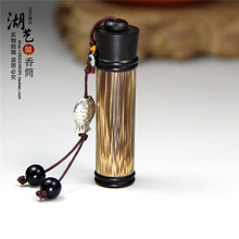 Gold silk and ebony sweet bursa of tobacco tube piece of tube powder cans incense smoke tube snuff bottle there are appliances selection of merlot bamboo diameter 1 5 cm large sweet bursa of tobacco powder tube snuff bottle by handwork
