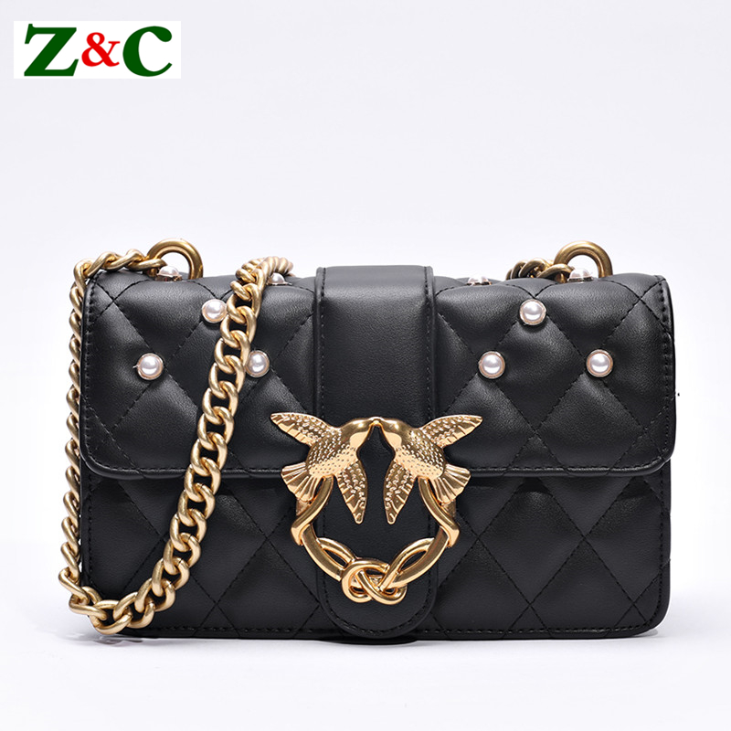 Luxury Brand Women Chain Shoulder Bag Messenger Bags Famous Designer Swallow Lock Lady Bag/Handbag Clutch Purse Original Quality teridiva women bags fashion brand famous designer mini shoulder bag woman chain crossbody bag messenger handbag bolso purse