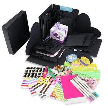 1set DIY Explosion Box Suprise Gift Boxfor Birthday Party Wedding Decorations Paper Box Scrapbook Photo Album Baby Shower Decor