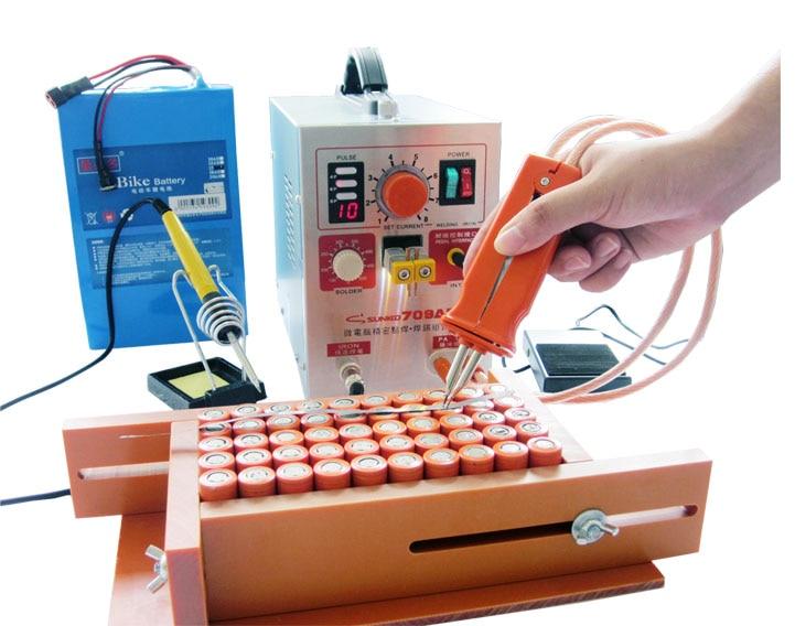 SUNKKO 709AD 4 IN 1 di Saldatura macchina fissa di impulso di saldatura temperatura costante di saldatura Attivato induzione di saldatura a punti HB-70B