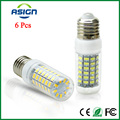6 Pcs E27 E14 LED Bulb Light 5730 220V 24 36 48 56 69leds LED Corn Led Bulb Lampada LED Chandelier Candle Lighting