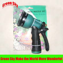 household plastic copper variable flow controls multifunction 7 patterns garden gun