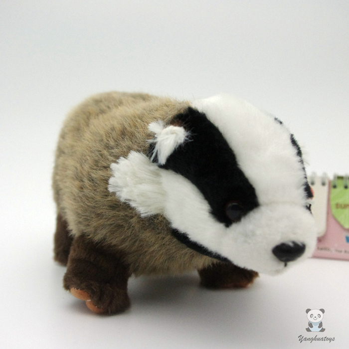 Rare Wild High Quality Child Toy Honey Badger  Simulation Animals  Plush Toys Doll jeanne willis wild child