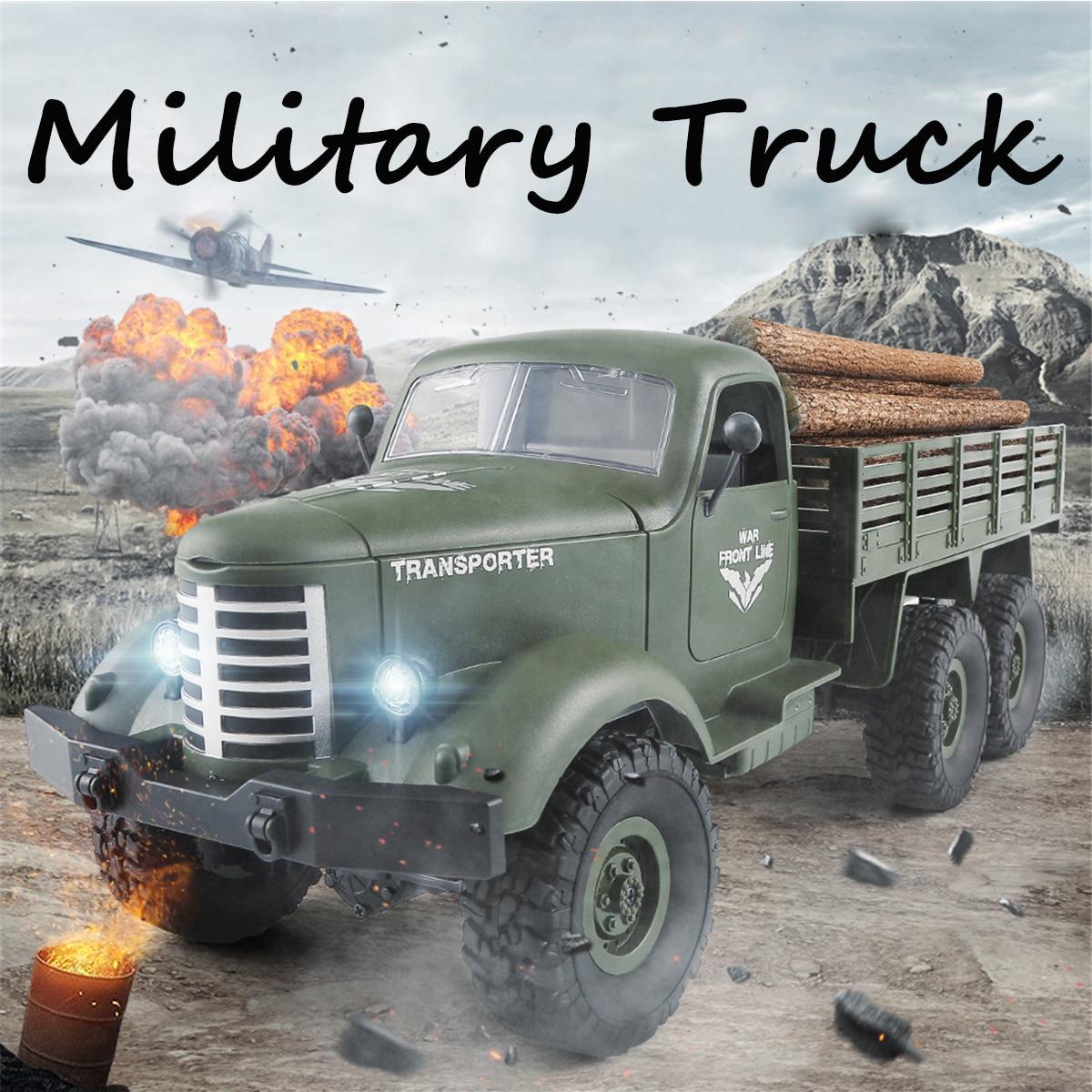 JJRC 6 roues voiture tracteur enfants voiture 2.4G télécommande 6WD suivi tout-terrain militaire camion voiture contrôle