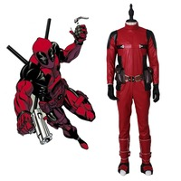 High quality adult Deadpool Wilson cosplay costume leather full body Halloween Costumes for men Superhero Deadpool costume