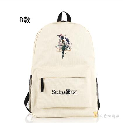 Anime Steins Gate Backpack EL PSY CONGROO Popular Japan Game SteinsGate School Bag for Boys Children Bookbag