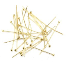 200pcs Gold Tone 20mm/25mm/30mm/40mm Stainless Steel End Bal