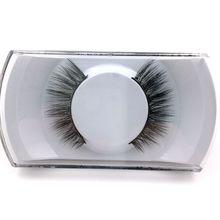 1Pair Lashes False Eyelashes Natural Makeup 3d Mink Lashes Eyelash Extension Make Up real siberian mink strip eyelashes