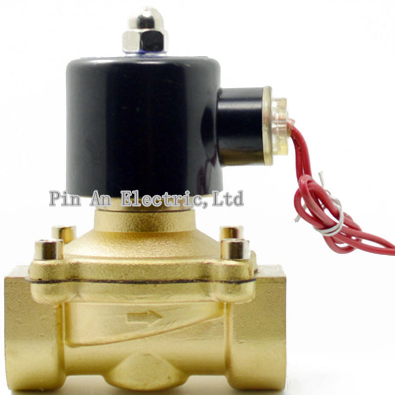 Free Shipping  New 3/4 Electric Solenoid Valve Pneumatic Valve for Water Oil Air Gas x1 1Pneumatics Alloy Body 2W200-20 time electric valve ac110v 230 3 4 bsp npt for garden irrigation drain water air pump water automatic control systems