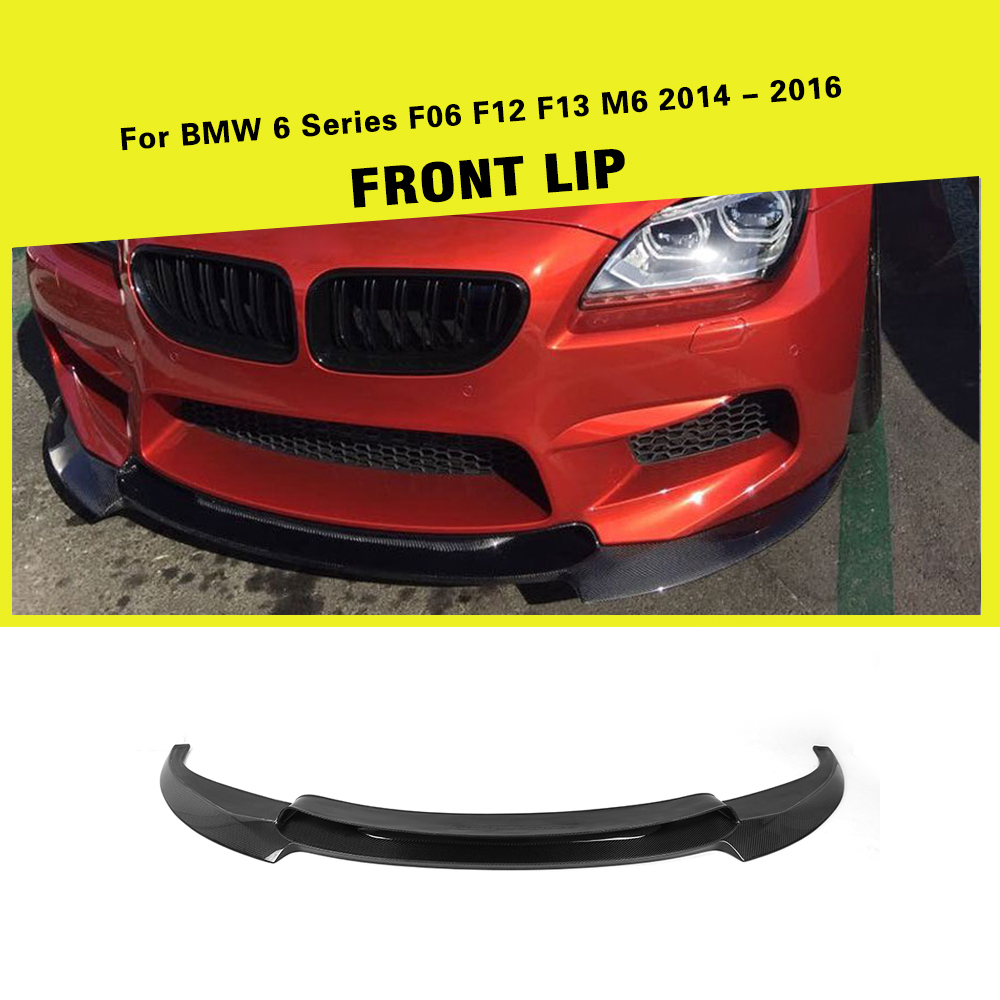 Carbon Fiber / FRP Car Racing Front Bumper Lip Spoiler for BMW 6 Series F06 F12 F13 M6 Base Sedan Convertible Coupe 2014 - 2017Carbon Fiber / FRP Car Racing Front Bumper Lip Spoiler for BMW 6 Series F06 F12 F13 M6 Base Sedan Convertible Coupe 2014 - 2017