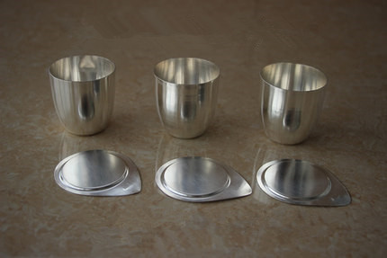 Iron crucible / 50ml / with lids /