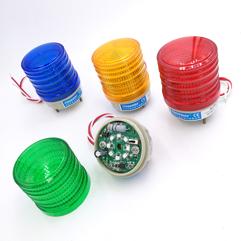 Strobe Signal Warning Light N-5041 12V 24V 220V Indicator Light LED Lamp Small Flashing Light Security Alarm
