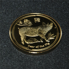 THE NEWEST PRODUCT 5PCS/LOT AUSTRALIAN LUNAR GOLD COIN SERIES II 2019 YEAR OF PIG 1 OZ PLATED