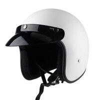 Free Shipping DOT approved retro motorcycle helmet casco 3/4 open face helmet cafe racer helmet chopper helmet capacete