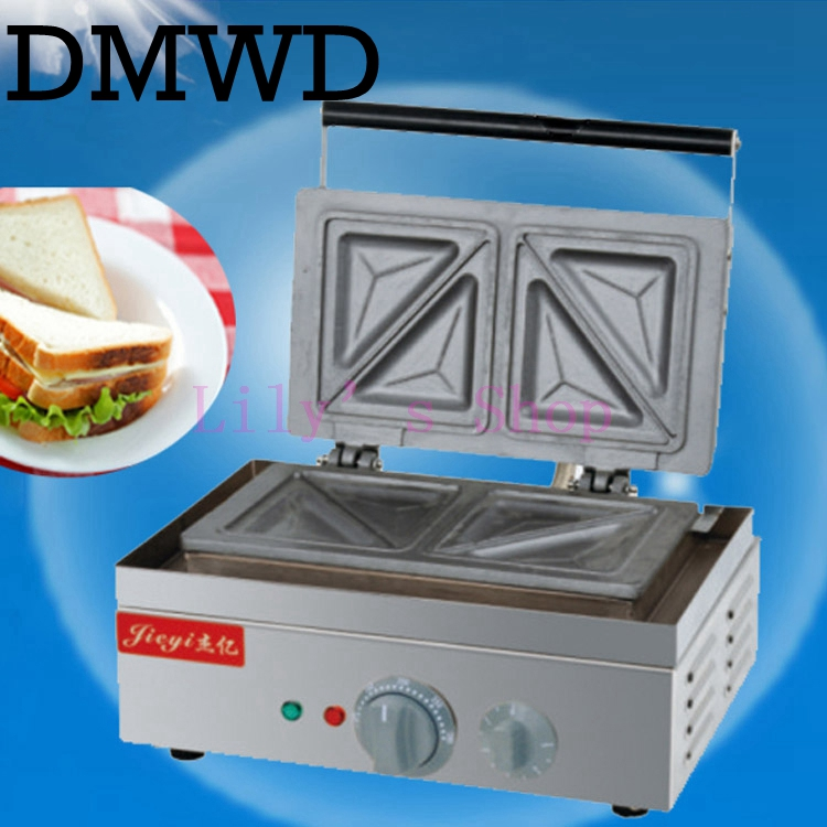DMWD Commercial Electric sandwich maker Waffle Sandwich baking Machine Toaster bread oven muffin grill Dutch Pancake Baker plate freeshipping restaurant cooking mahine baking cake muffin baker electric commercial waffle maker