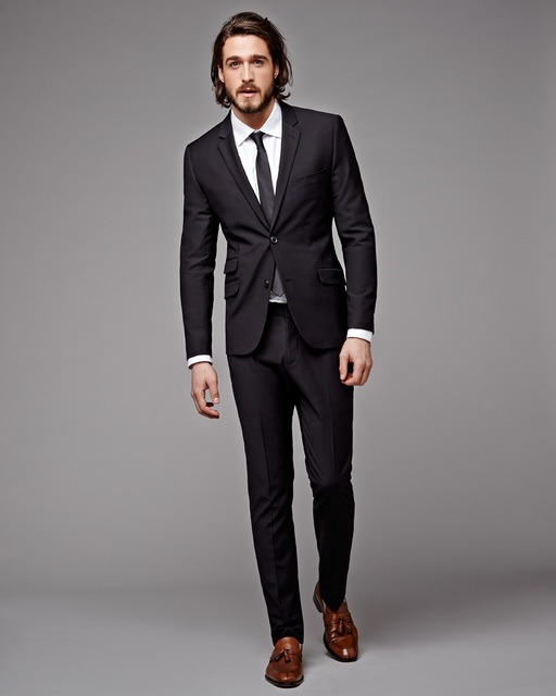 2017 Italian Style Black Wedding Suits For Men Tailor Made Slim ...