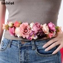 Nuevos cinturones a la moda para mujeres y niñas, cinturón largo con lazo, cinturón de flores para niñas 2020