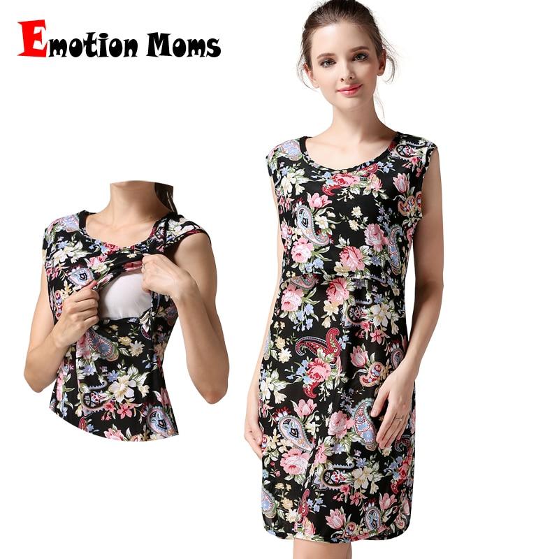 Emotion Anneler Kolsuz Hamile kıyafetleri Hemşirelik Emzirme elbise gebelik Hamile Kadınlar için Kıyafet