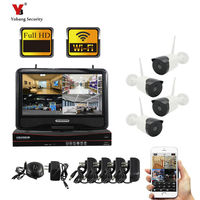 YobangSecurity 4CH HD Home WiFi Wireless Security Camera System DVR Kit 960P CCTV WIFI Outdoor Full HD NVR Surveillance Kit