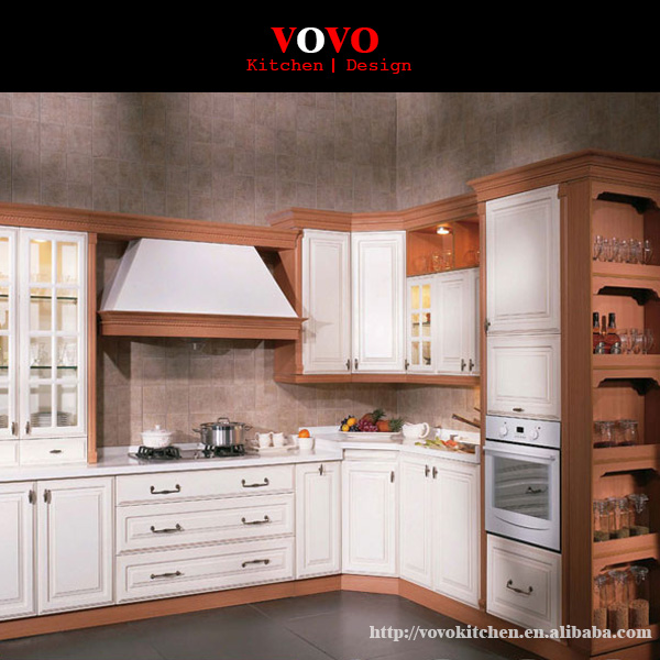 US $3450.0  Classical kitchen cabinet furniture with hood cover and open  shelf-in Kitchen Cabinets from Home Improvement on AliExpress -  11.11_Double ...