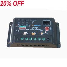 Controlador de Carga Solar Reguladores 20A 12 v/24 v Controlador de Carga Painel Autoswitch Barata Solar