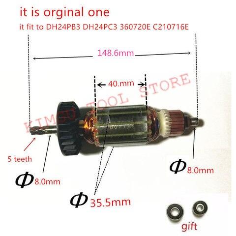 Motor para Hitachi Dentes Motor 360720e C210716e Armatur Ac220-240v 5 Dh24pb3 Dh24pc3