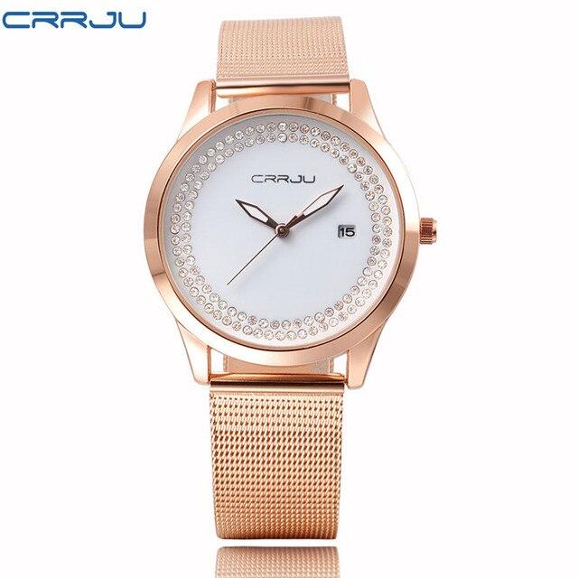Zegarek damski Crrju Luxury trzy kolory