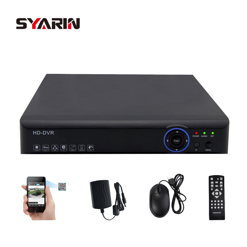 SYARIN 8ch CCTV System AHD 720P 8 channel 1.0mp 25fps real time recording HDMI 1080P Hybrid H.264 AHD-M recorder цена