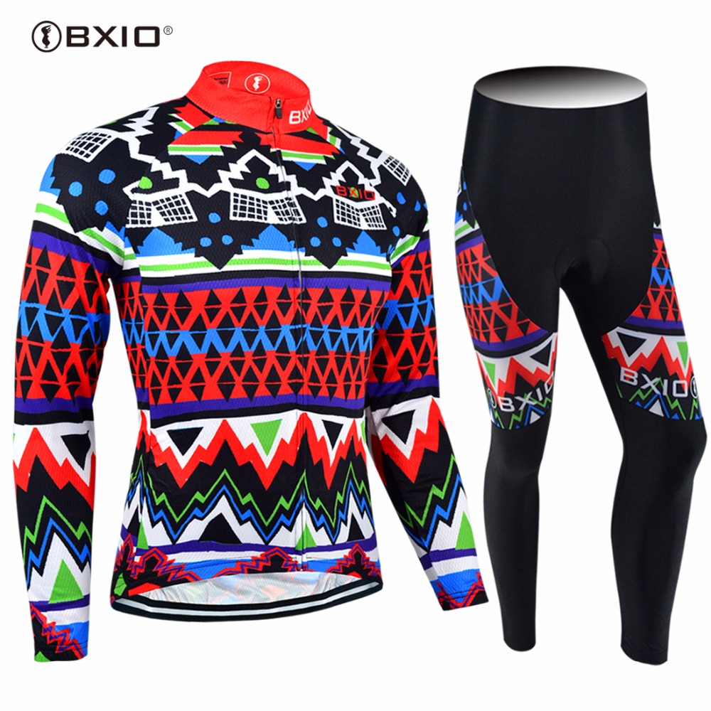 2017 New Arrival Bxio Cycling Set MTB Bike Jersey Long Sleeve Maillot Ciclismo Pro Bicycle Clothing Cuissard Cycliste Equipe 27 2017pro team lotto soudal 7pcs full set cycling jersey short sleeve quickdry bike clothing mtb ropa ciclismo bicycle maillot gel