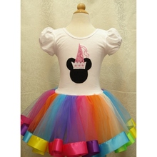 6T Fancy Baby Princess Girls Dresses for Party with Rainbow Lace Tutus Kids Birthday Clothes Toddler Clothing Children's Wear