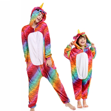 PSEEWE Woman Pijamas winter animal cartoon unicorn onesie unicorn costume child girls pyjama christmas adult pajama sets